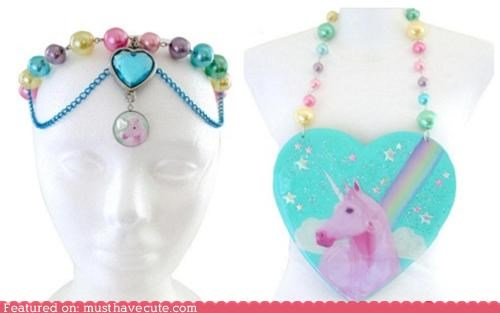 headpiece Jewelry necklace pendant unicorn - 4468949504
