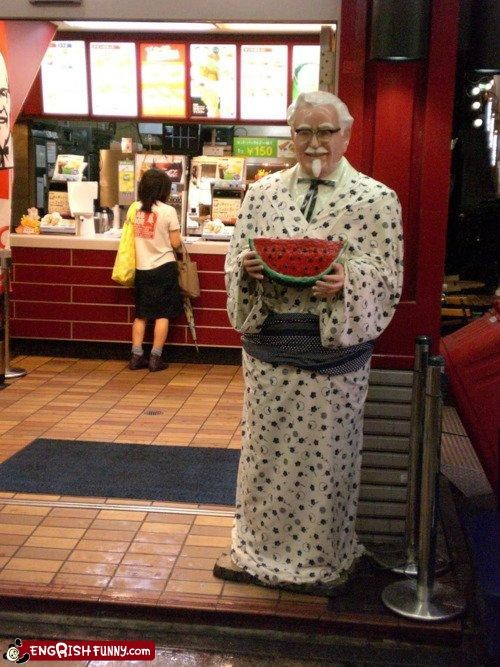 colonel sanders kfc racist watermelon - 4469016064