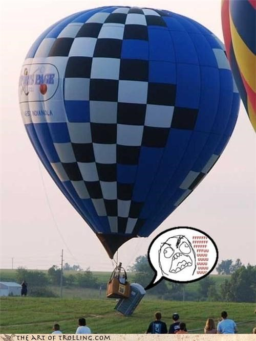 collision Hot Air Balloon IRL porta potty - 4469305856