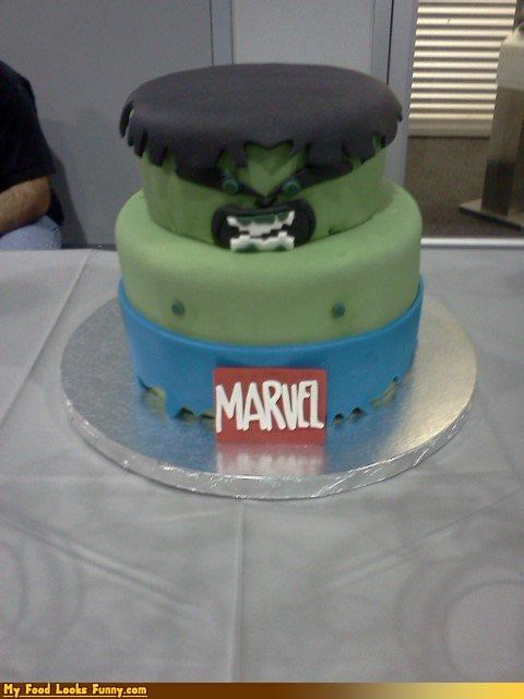 cake fondant hulk marvel superhero the incredible hulk - 4469340928
