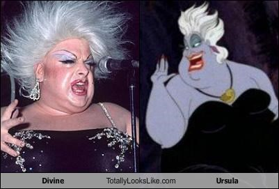 actress cartoons disney Divine drag queen The Little Mermaid ursula