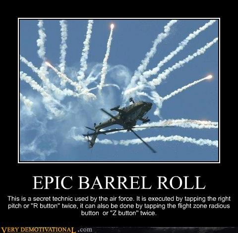 barrel roll epic helicopter wtf