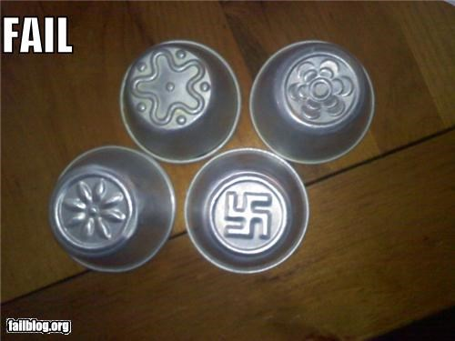 cooking cupcakes failboat food molds swastikas - 4469769728