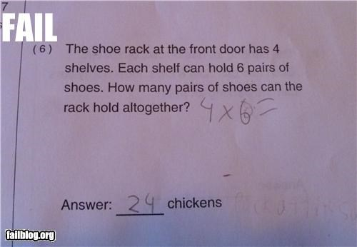 chickens failboat g rated racks schools shoes tests you-couldnt-fool-that-kid-though - 4469920768