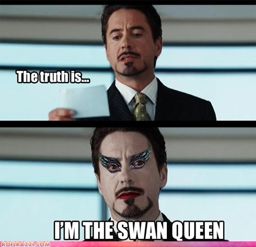 black swan comic funny Hall of Fame mashup robert downey jr - 4469947904