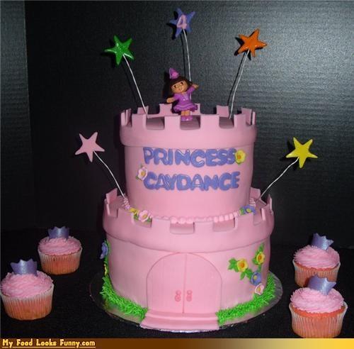 cake castle dora epicute pink stars - 4470163200
