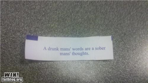 alcohol beer drinking fortune cookie - 4470340096