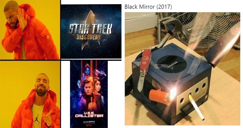 Funny memes about Black Mirror.