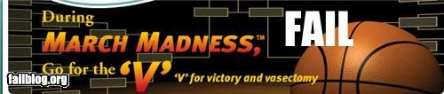 Ad basketball failboat letters march madness p33n vasectomy victory - 4470579712
