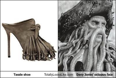 davy jones fashion octopus pirates Pirates of the Caribbean shoes tassels - 4470633216