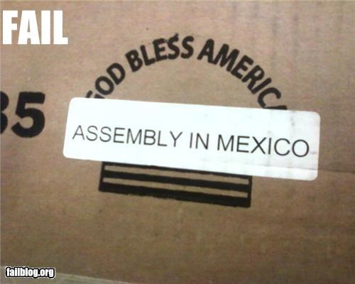 countries failboat g rated made in mexico nation pride stickers usa - 4470942720