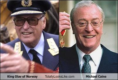 actors King Olav michael caine Norway policians political