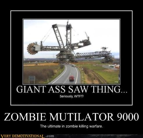 crazy looking,excavator,huge machine,zombie