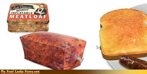 inflatable meatloaf Pillow plastic toast
