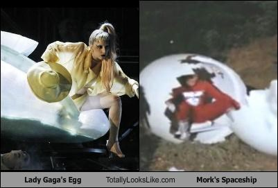 alien,egg,Grammys,lady gaga,Mork and Mindy,singer,TV