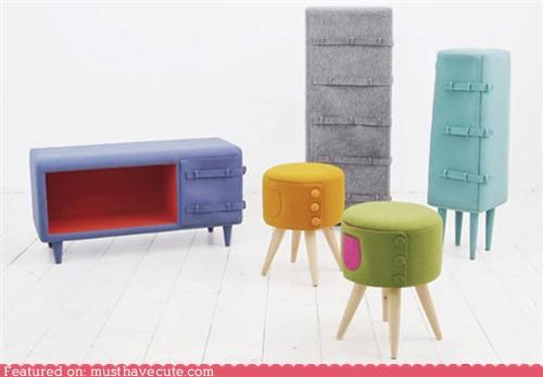 felt furniture soft warm wool - 4471547392