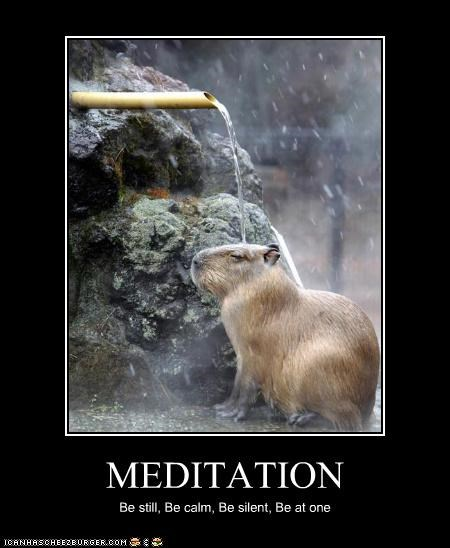 MEDITATION Be still, Be calm, Be silent, Be at one