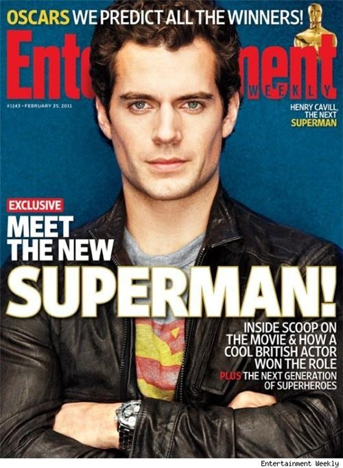 Entertainment weekly,first look,Henry Cavill,magazine cover,movies,Nerd News,superman,superman movie