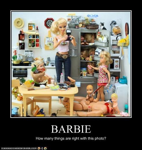 BARBIE How many things are right with this photo?