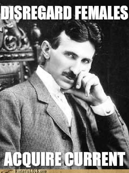 funny meme Nikola Tesla Photo photograph - 4472164864