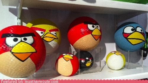 angry birds balls play rubber toy - 4472288256