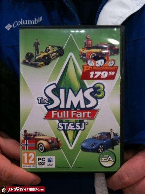 accidental,DVD,game,Sims,video game