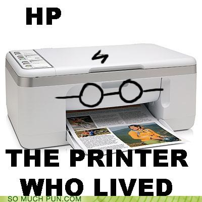 acronym alert brand computer hardware Harry Potter hewlett packard hp initials printer slogan spoiler