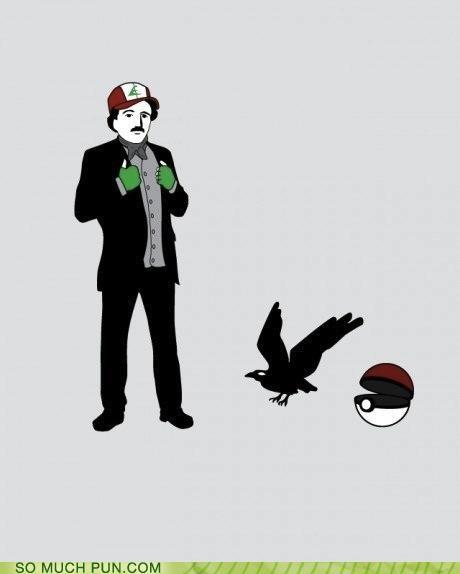 edgar allen poe juxtaposition malapropism mashup murkrow neologism Pokémon prefix suffix surname - 4472304384