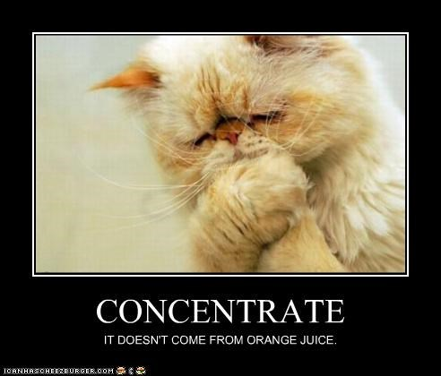 CONCENTRATE IT DOESN'T COME FROM ORANGE JUICE.