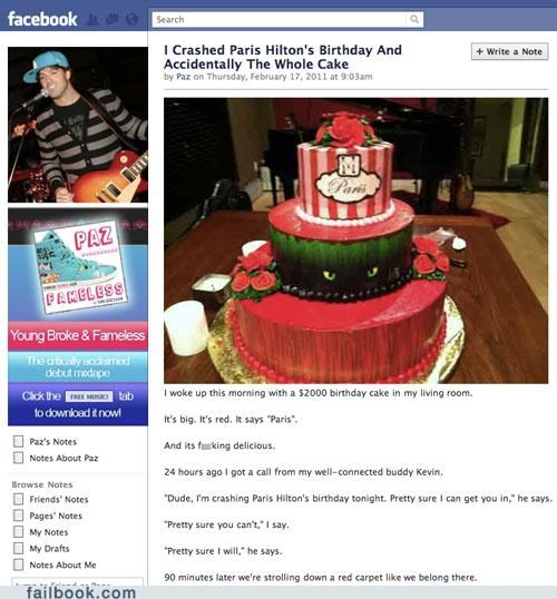 birthday cake Featured Fail paris hilton party crashers paz - 4472485376
