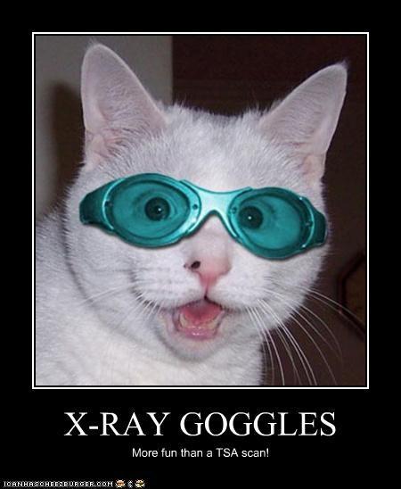 X-RAY GOGGLES More fun than a TSA scan!