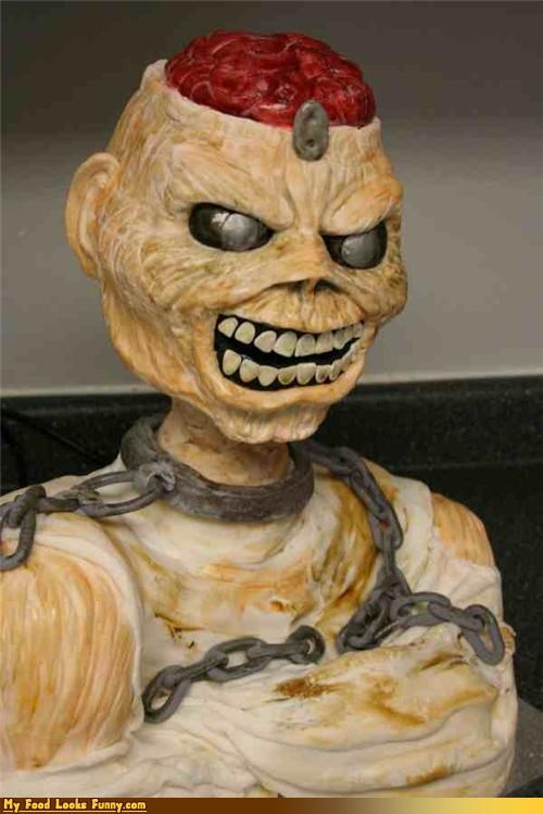 brains cake eddie iron maiden mummy zombie - 4472761344