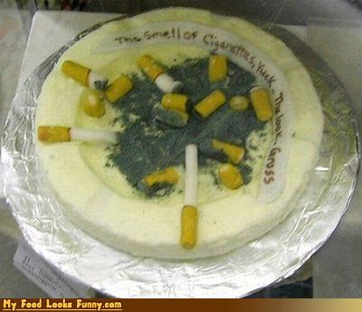 ashes ashtray butts cake cigarettes fondant