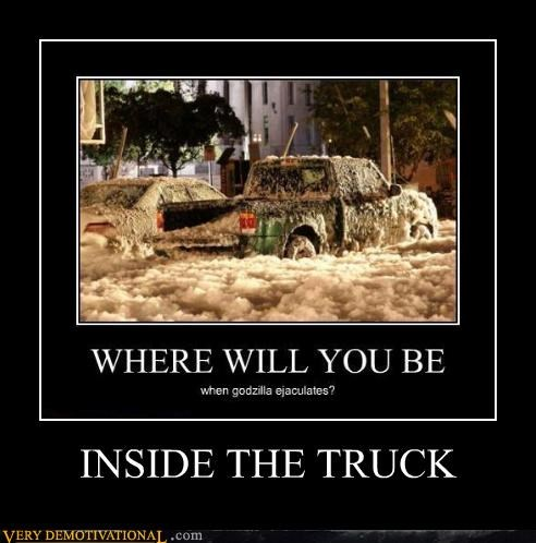 good idea,gozilla,Terrifying,truck,wtf