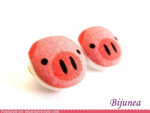 accessories earrings fabric Jewelry pig - 4473770240