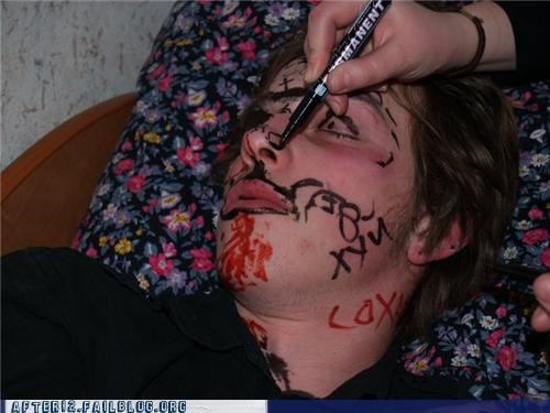 drunk marker Party passed out sharpie - 4474277376