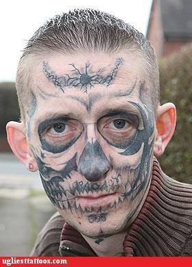 bones,face tats