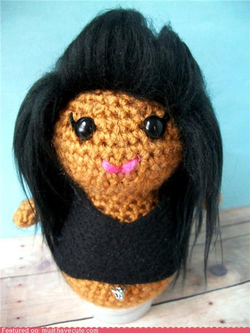 Amigurumi Crocheted doll jerseyshore snooki yarn - 4475000832