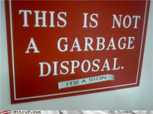 disposal garbage literal sign