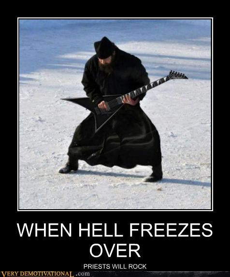 frozen guitar hell priest rock