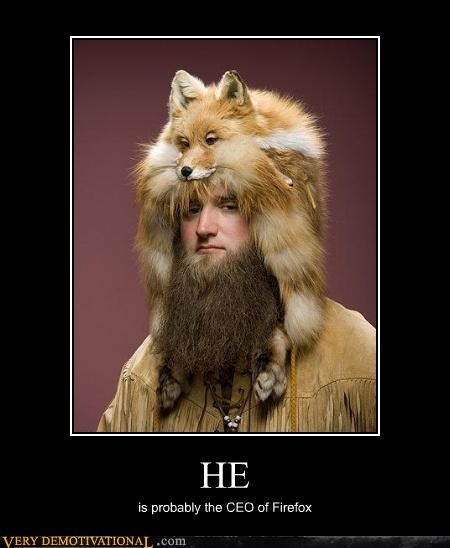 beard firefox fox hair wtf - 4475220224