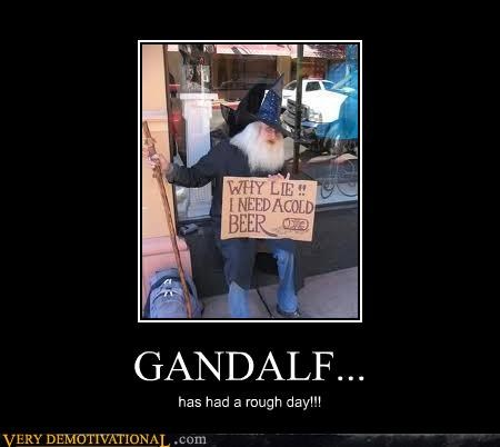 beer gandalf hilarious hobo sign - 4475233280