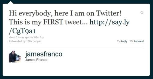 James Franco,James of all Trades,twitter