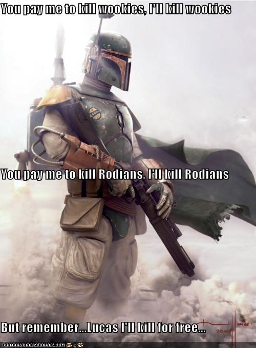 boba fett Fan Art funny sci fi star wars - 4475937024