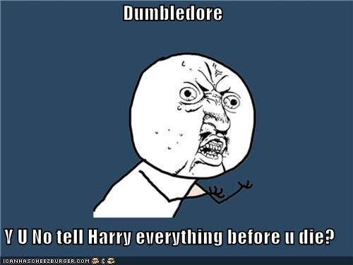 dumbledore Harry Potter Hogwarts wizard Y U No Guy - 4476738048