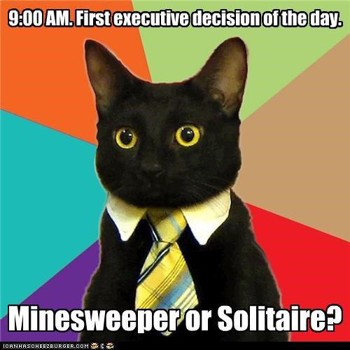 Business Cat executive decision - 4477002496