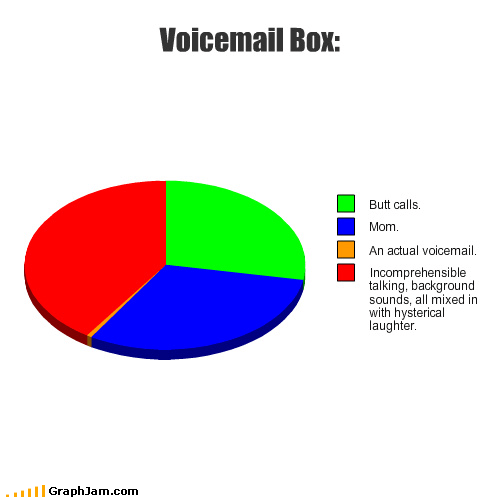 pie charts voicemail graphs funny - 4477041152