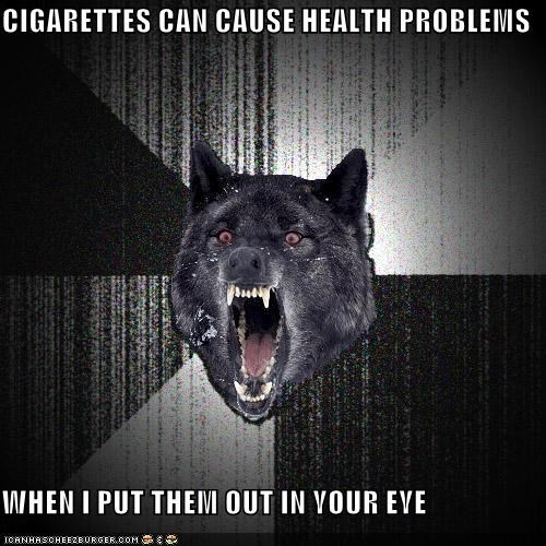 cigarettes Insanity Wolf smoking - 4477129216