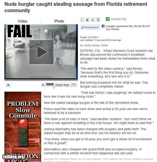 failboat food news oh florida old people Probably bad News sausage stealing - 4477490944