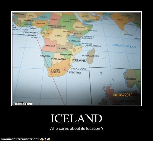 ICELAND Who cares about its location ?
